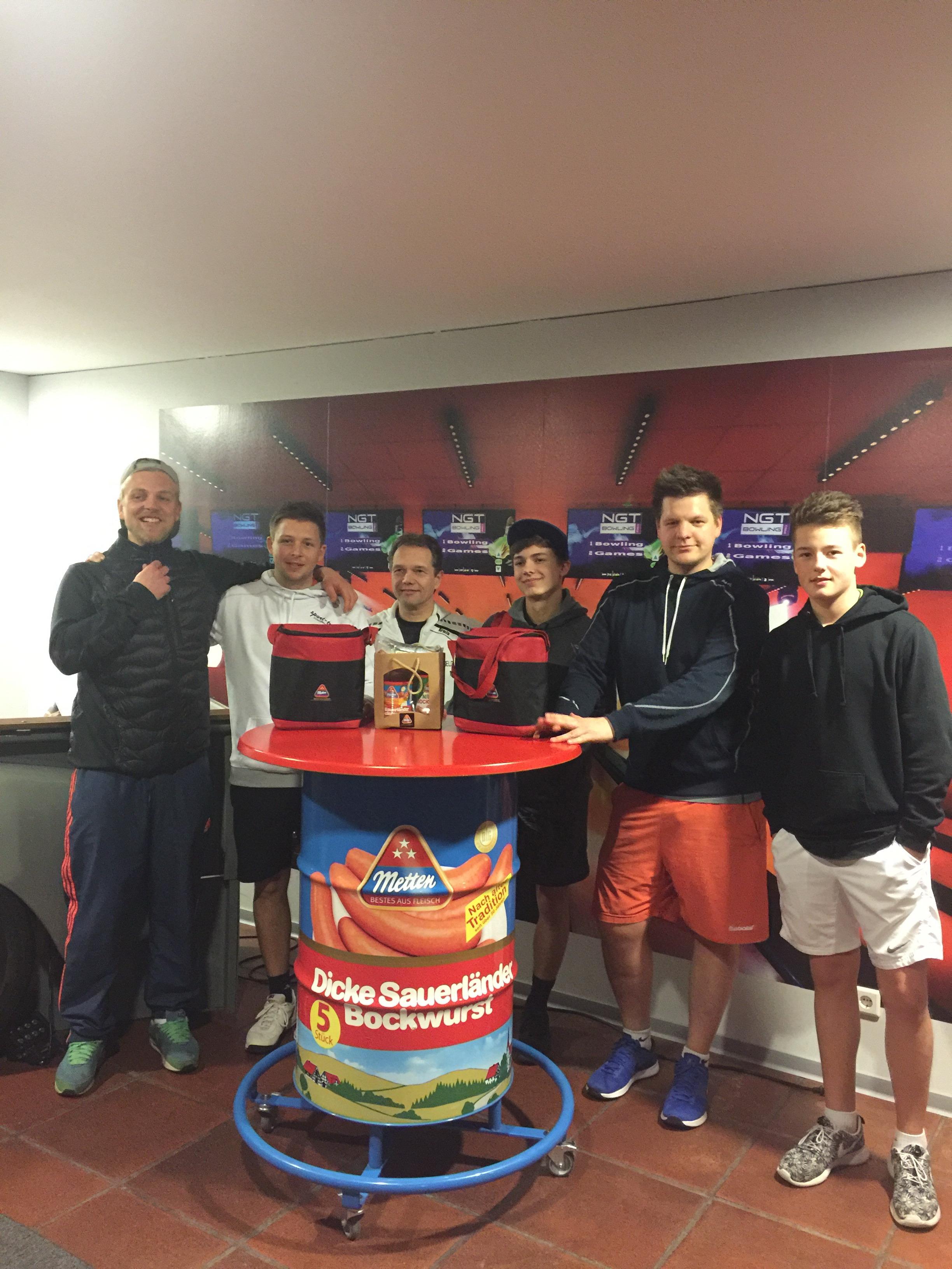 Siegerbild Kreismeisterschaften Finnentrop 2017 Herren Doppel 190317