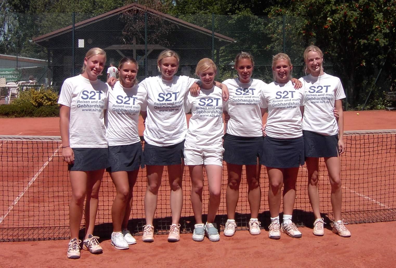 Ausschnitt Gebhardshain Tennisdamen 2003 - 2